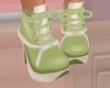 Green Cream Boots