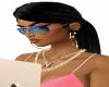 lisa long black ponytail