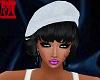 (MDH)white cap with hair