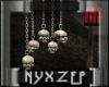 Hanging Skulls on Chains