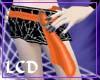 Stitchd Vamp Skirt-Orang