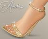 $ Sparkly Gold Heels
