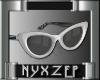 Zena Black/White Glasses