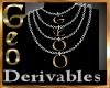 Geo Multi Necklace der