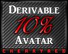10% Avatar Derive