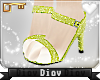 *D* Green Glitter Heels