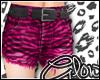 #Zebra Shorts - Pink#