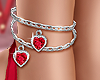 💕 Heart Anklet Red