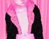 S! Kawaii Fur Coat Pink