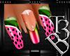 TB3:WaterMelon Nails