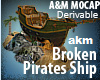 Broken Pirates Ship