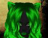 green & black Fox furry