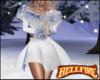 Silver Fur Holiday Dress