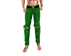 Green Rip Jeans