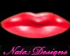 red shiny lipstick small