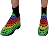 Rainbow suit shoes