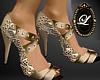 LIZ trinity gold heel