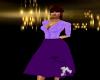 Retro Poodle Skirt Purpl