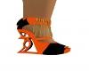 (PFWD) Orange&Black Heel