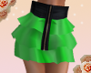 {L4}green ruffle mini