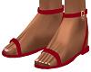 Red Riyna Sandals