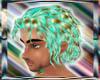 aqua n gold bedroom hair