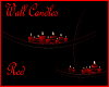 """RD"" Wall Candles Red"
