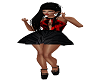 red black baby doll dres