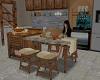 kitchen island w/table
