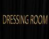 sign dressing room gold