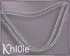 K silver chains