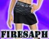 [F] Plaid Grey Skirt