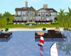 lake front beach villa