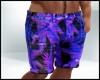 Tropical Purple Shorts