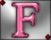 Pink Letter F