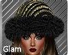 Gold Black Magic Hat