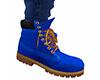 Med Blue Work Boots (M)