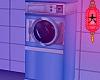 e Blue laundromat