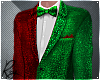 Green Red Holiday Suit