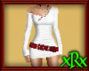 Tight White Dress w/Ruby