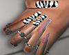 🖤 Zebra Nails