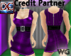 Belted Mini Dress Purple