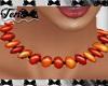 Orange Brown Beads
