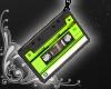 Cassette Earrings [lime]
