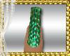 D3~Disco Green Nails