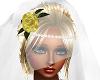 Face Veil Yellow Rose