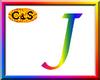 C&S Rainbow Letter J