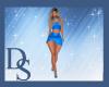 Blue Beaded Skirt