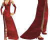 Red Velvet Long Gown