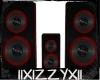 IIX* Red Neon Speakers